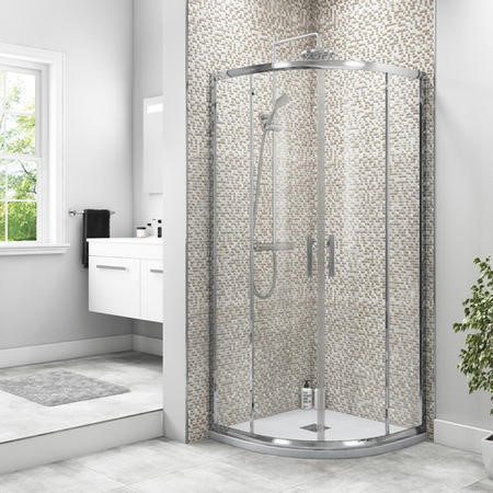 Shower Enclosure with Twin Sliding Door 800 x 800mm - 6mm Glass - Taylor & Moore Range