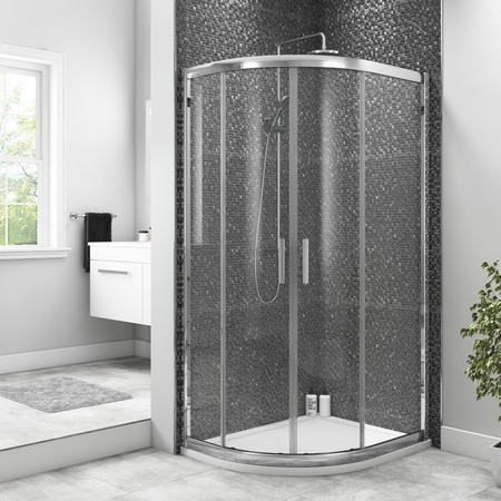 GRADE A1 - Offset Quadrant Sliding Shower Enclosure 800mm - 6mm Easy Clean Glass - Taylor & Moore Range