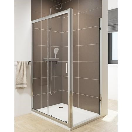 Claritas 6mm Glass Sliding Shower Door - 1000 x 1850mm