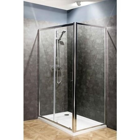 Claritas 6 Sliding Shower Door - Easy Clean Glass - 1700mm - 6mm Glass