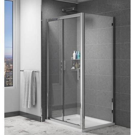 Claritas 6mm Glass Sliding Door Shower Enclosure - 1000 x 1850mm