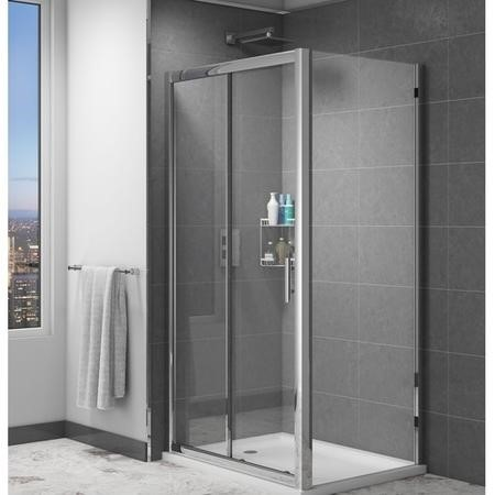 Glass Sliding Shower Door 1100mm - 6mm Glass- Claritas Range