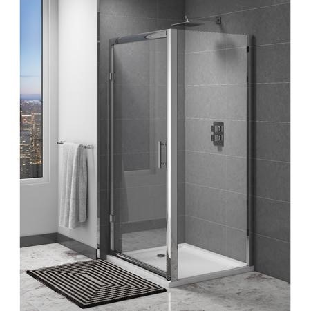 Claritas 6mm Glass Shower Door Side Panel - 760 x 1850mm