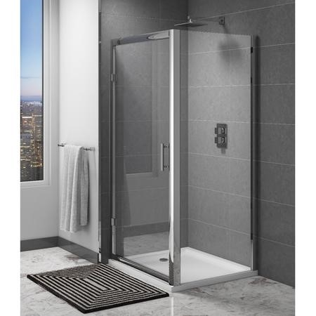 Claritas 6mm Glass Shower Door Side Panel - 800 x 1850mm