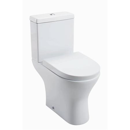 Cedar Close Coupled Toilet with Wrap Around Style Seat