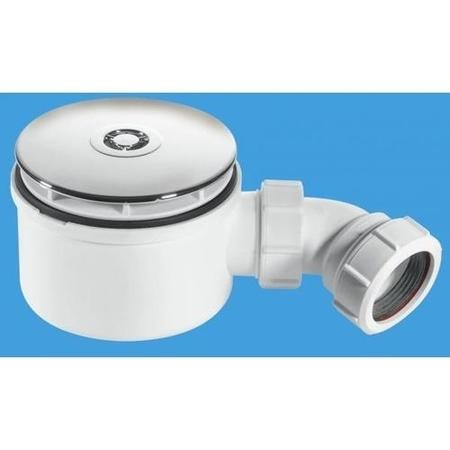 "90mm x 50mm Water Seal Shower Trap with 1½"" Outlet"