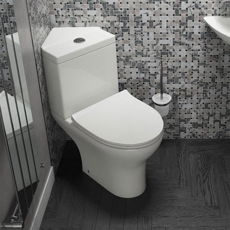 Cedar Corner Toilet with Slim Soft Close Seat