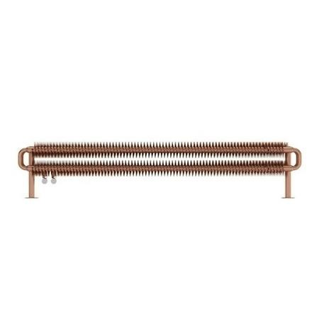Brushed Copper Horizontal Radiator 190 x 1540mm -Industrial Style
