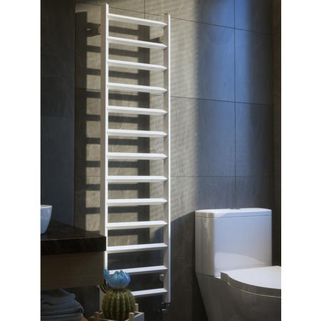 Soft White Vertical Bathroom Towel Radiator  1560 x 400mm