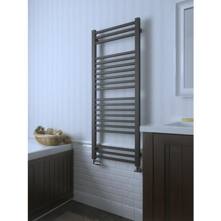 Metallic Grey Vertical Bathroom Towel Radiator 1260 x 500mm