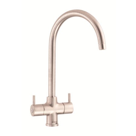 CDA TC55NI Swan Neck Monobloc Tap In Nickel