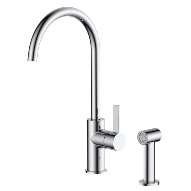 Taylor & Moore Chrome Single Lever Pull Out Spray Mixer Kitchen Tap