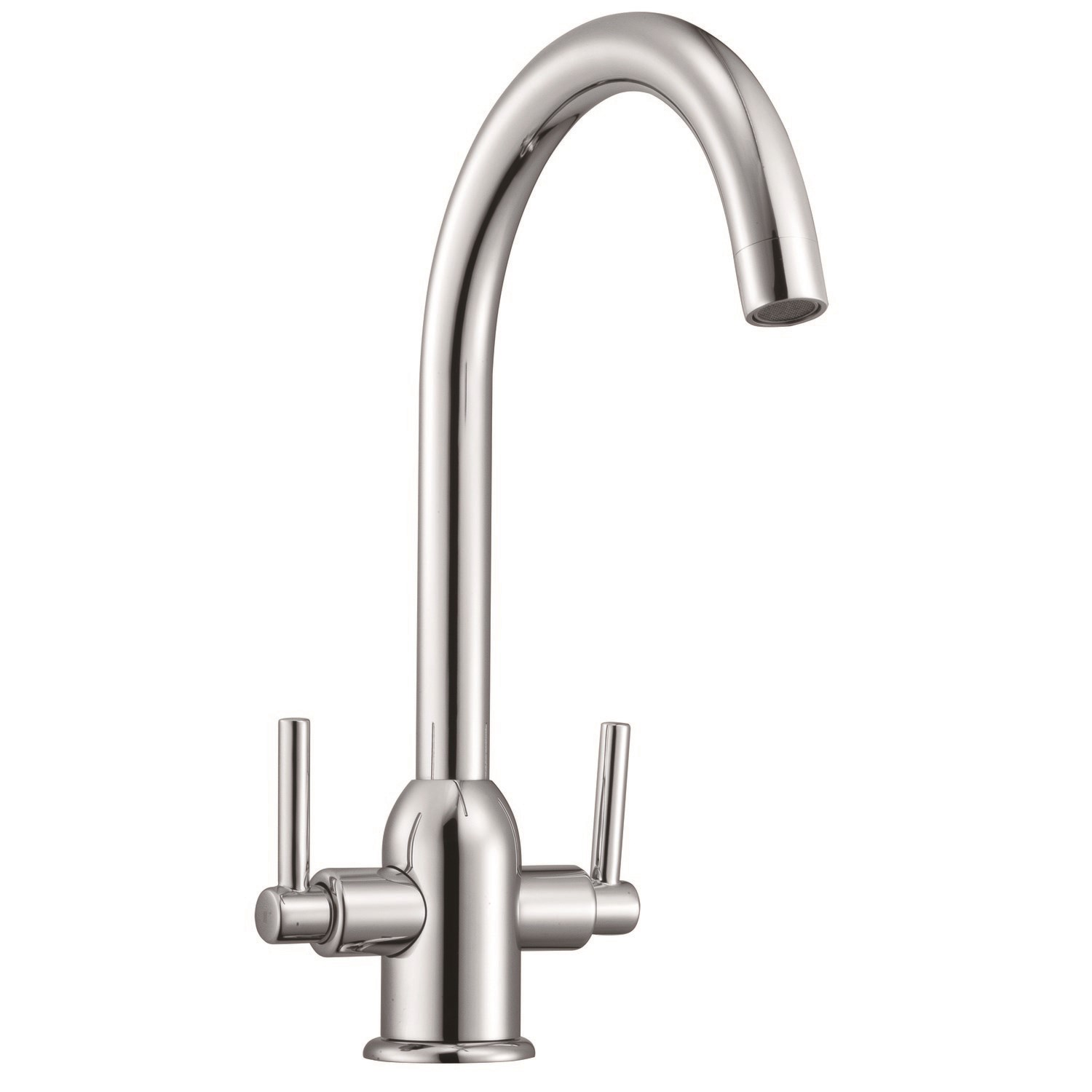 Plumbing Tools Taylor & Moore Dual Lever Kitchen Sink Tap - Chrome