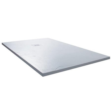 Claristone White Slate Effect Shower Tray & Waste - 1700 x 800mm