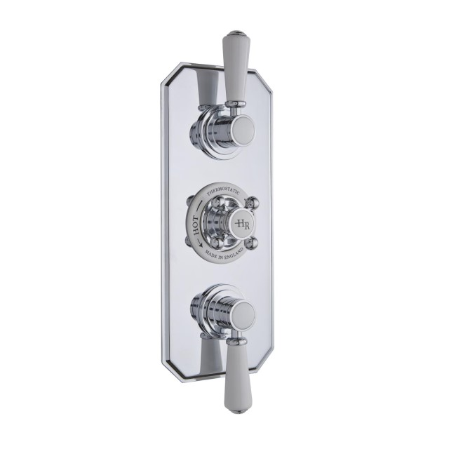 Hudson Reed White Topaz Triple Concealed Shower Valve with Diverter