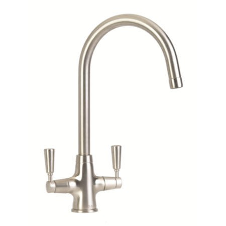 CDA TT41NI Traditional Style Swan Neck Monobloc Tap In Nickel