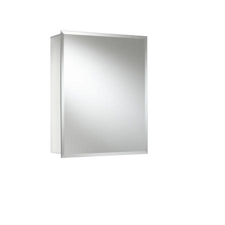 Croydex Winster Aluminium Single Door Mirror Cabinet