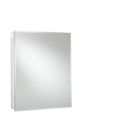 Croydex Langley Aluminium Single Door Mirror Cabinet