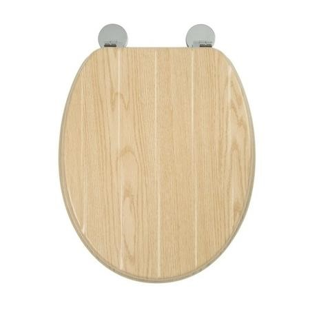 Croydex Geneva Moulded Wood Flexi-Fix Toilet Seat