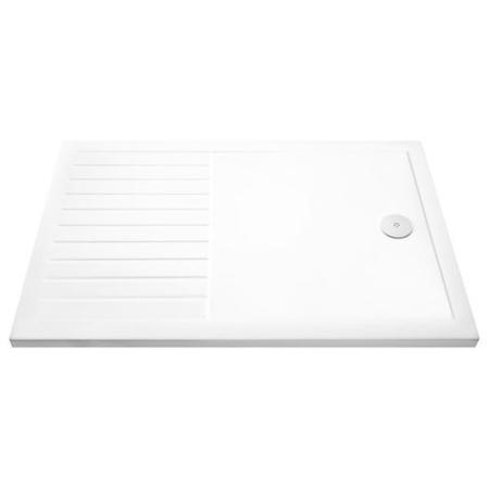 Claristone White Walk in Shower Tray with Drying Area & waste - 1700 x 800mm