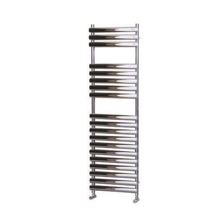 Chrome Vertical Bathroom Towel Radiator 1200 x 500mm