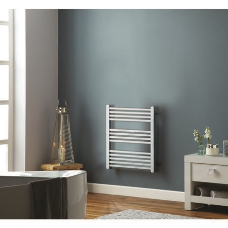 Chrome Towel Radiator with Square Rails 212W - 800 x 450mm - Electric