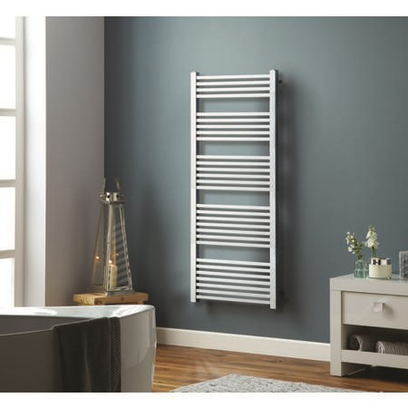 Chrome Towel Radiator with Square Rails 569W - 1600 x 600mm - Electric