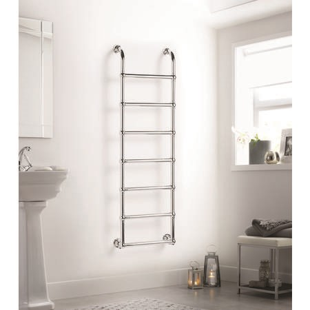 Chrome Vertical Traditional Bathroom Towel Radiator 1600 x 500mm