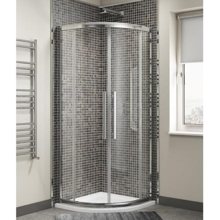 Claritas 8mm Glass Quadrant Shower Enclosure - 800 x 800mm