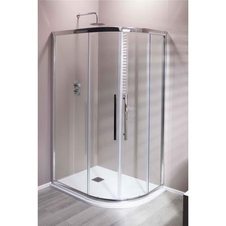Claritas 8mm Glass Offset Quadrant Shower Enclosure - 900 x 760mm
