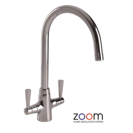 Zoom ZP1003 Bellagio Twin Lever Monobloc Chrome Tap
