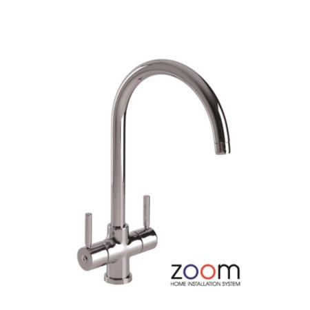 Zoom ZP1024 Contemporary Aquifier Twin Lever Chrome