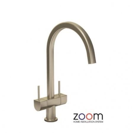 Zoom ZP1030 Stelvio Twin Lever Monobloc Brushed Nickel Tap