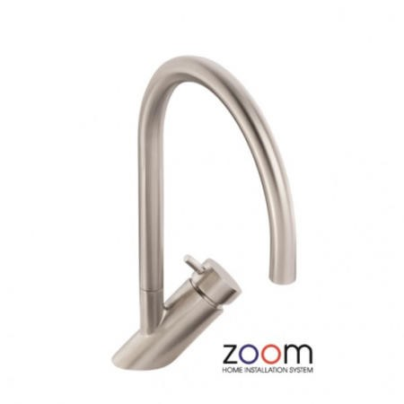 Zoom ZP1043 Diagon Single Lever Stainless Steel Mixer Tap