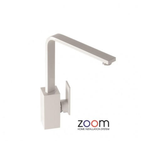 Zoom ZP1066 New Media Single Lever Gloss White Mixer Tap