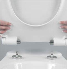 White Luxury Top Fixing Toilet Seat