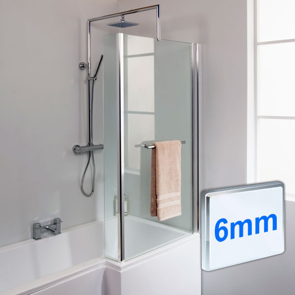 fixed l shaped bath screen mode maine left handed p shaped shower bath and shower