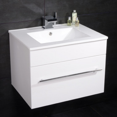 Aspen 60cm Wall Mounted White Vanity Unit