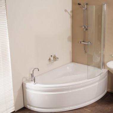vienna offset right hand shower bath prima 1500 x 900 offset right hand corner shower bath
