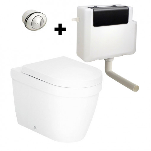 Aurora Back To Wall Toilet with Concealed Cistern