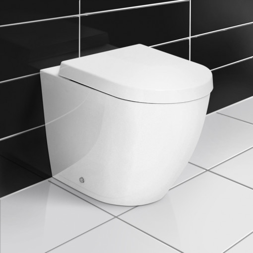 Vigo Right Hand Bow Front Combination Unit with White Basin