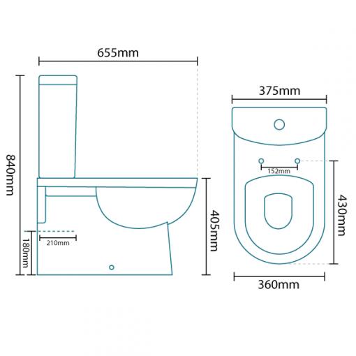 Rovigo Toilet and Seat