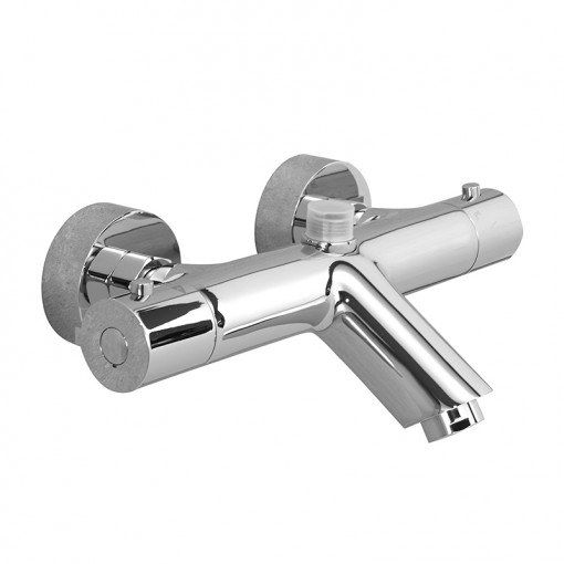 Peru Deluxe Wall Mounted Bath Shower Mixer with Slide Rail Kit