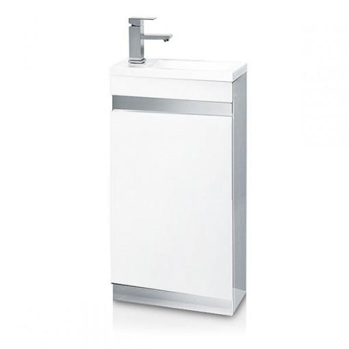 Vigo 420mm White Cloakroom Vanity Unit