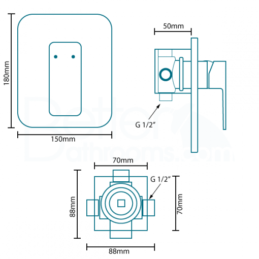 Serrato Premium Concealed Lever Shower Valve