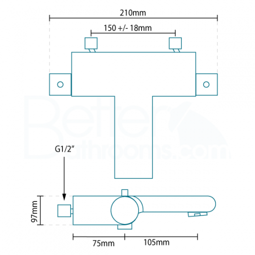 Montroc Premium Thermostatic Bath Shower Mixer