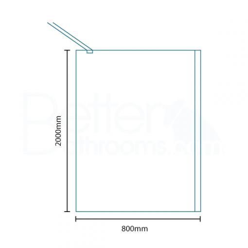 Trinity Premium 10mm 2000 x 800 Walk In Shower Screen