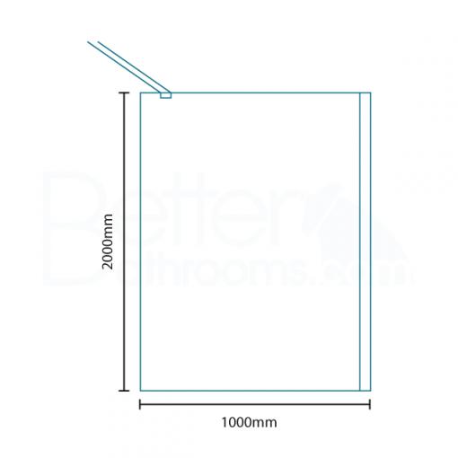Trinity Premium 10mm 2000 x 1000 Walk In Shower Screen