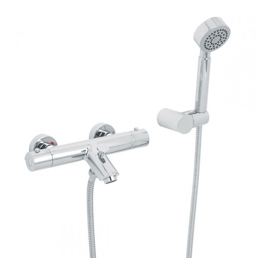 Peru Deluxe Wall Mounted Bath Shower Mixer with Circo Handset