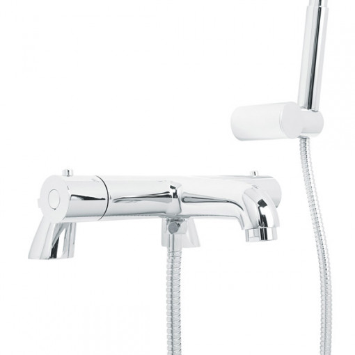 Focus Thermostatic Deck Mounted Bath Shower Mixer with Circo Handset